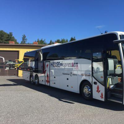 Carrus Delta on valmistanut muun muassa ambulanssibusseja Norjaan. Arkistokuva.