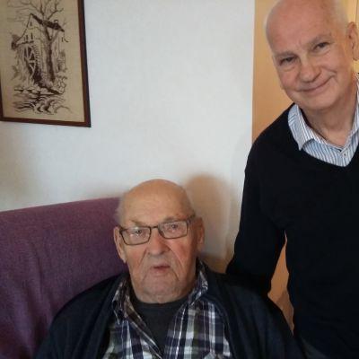 Röda kors vännen Ole Lindholm och Knut Nylund har varit vänner i tio års tid.