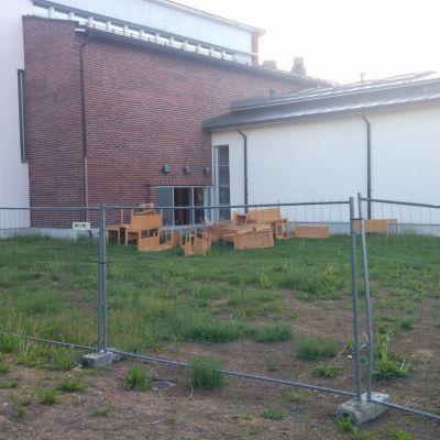Kempeleen kunnantalo purku alkanut kuva otettu 19.6.2019