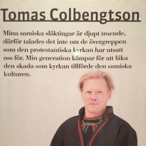Den samiska konstnären Tomas Colbengtson i utställningen Der Luthereffekt i Berlin