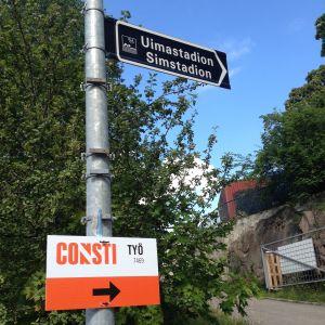 Renovering av Samppalinna utebad i Åbo.