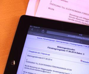 Borgå stad går över till elektroniska föredragningslistor