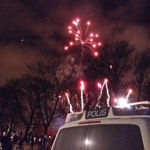 Nyårsraketer i Åbo.