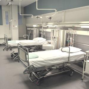 Sjukhussängar i Malms sjukhus.