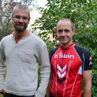 Kim Wikström och Fritjof Sahlström
