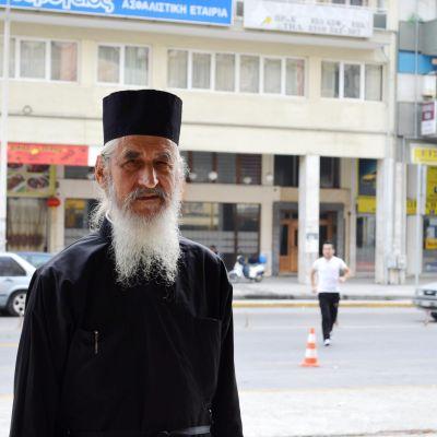 Nikodim Tsarknias leder den olagliga makedonisk-ortodoxa kyrkan i Grekland.