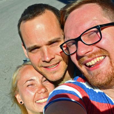 Thomas Perret med Carina Bruun och Ted Urho