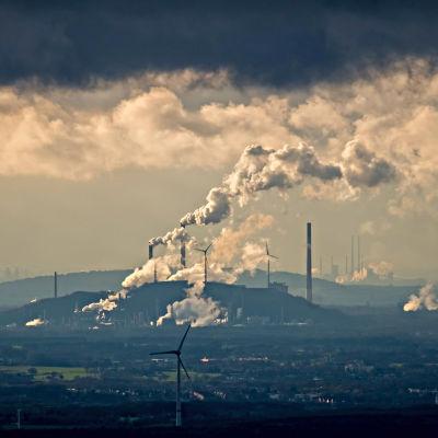 Utsläpp från Unipers kraftverk i Ruhrområdet.