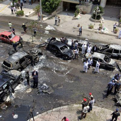 Tältä näytti Hisham Barakatin murhapaikalla kesäkuussa 2015.