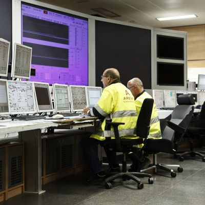 Teollisuuden Voima OYj:n Olkiluodon ydinvoimalaitosyksikkö OL 3:n valvomo.