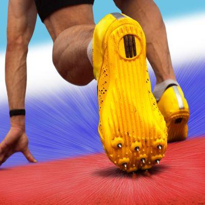 Venäjä yleisurheilu kuvitus