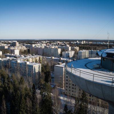 Hervanta Tampere Droonikuva Vesitorni