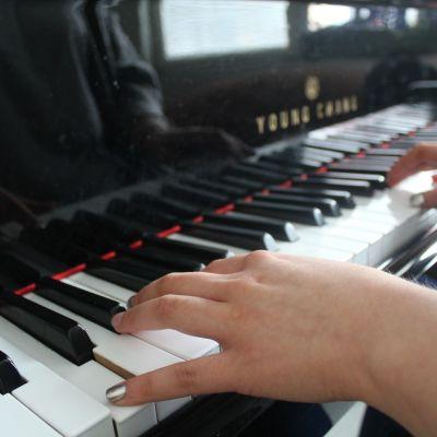Pianonsoittoa Savonlinnan Taidelukiossa