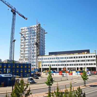 Kuva rakenteilla olevasta Kuopion Portin kompleksista