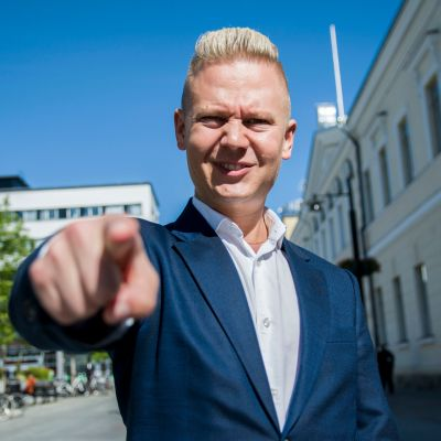 Janne Immonen Kuopion keskustassa kesällä 2019.