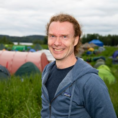 Mikael Heerman Kangasala-Jukolan telttakylässä.