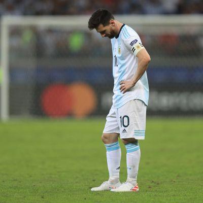 Lionel Messi Copa American pettymyksessä