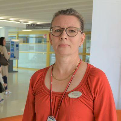 Tehyn pääluottamusmies Kati Keränen Päijät-Hämeen keskussairaalassa
