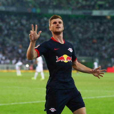 RB Leipzigin maaliseppo Timo Werner juhlii osumaansa
