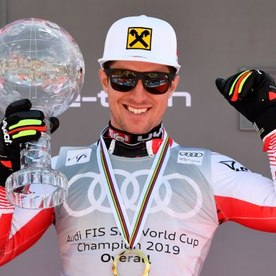 Marcel Hirscher of Austria takes 1st place in the overall standings during the Audi FIS Alpine Ski World Cup Men on March 17, 2019 in Soldeu Andorra