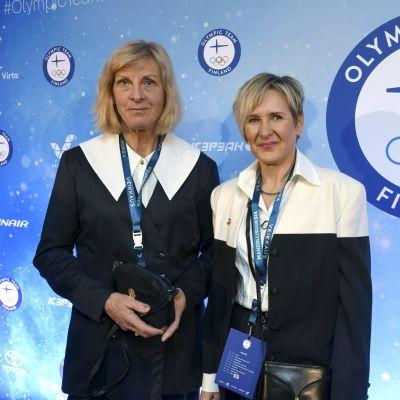 Marja-Liisa Kirvesniemi ja Marjut Rolig