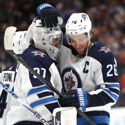 Blake Wheeler 26 Connor Hellebuyck 37 Winnipeg Jets