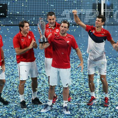 Serbia juhlii ATP Cupin voittoa
