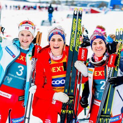 Therese Johaug, Ingvild Flugstad Östberg, Heidi Weng
