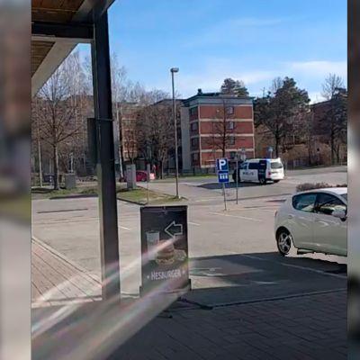Takaa-ajotilanne Kuopiossa.