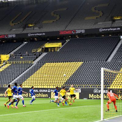 Borussia Dortmund vs FC Schalke 04 koronapandemian aikaan, 16.5. 2020