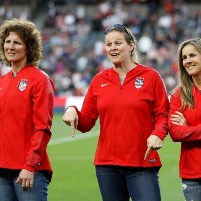Michelle Akers, Cindy Parlow Cone ja Brandi Chastain 2019