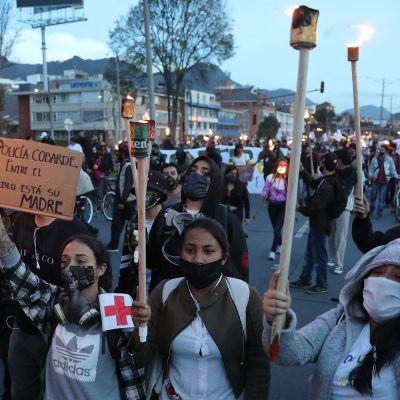 Protesti Bogota 1.7.2020