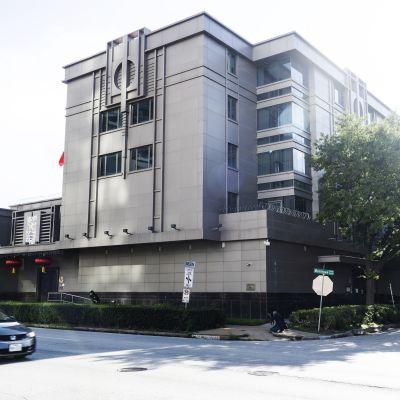 Kuvassa on Kiinan Houstonin-kosulaatti.