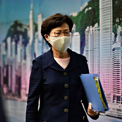 Carrie Lam Hongkongissa 31. heinäkuuta 2020.
