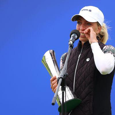 Sophia Popov liikuttui ensimmäisestä Euroopan kiertueen voitostaan.