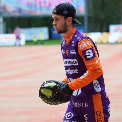 Ville Väliaho lukkaroi Jymyssä kaudet 2019-2020.
