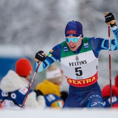 Iivo Niskanen oli Rukalla jälleen hiihtomaajoukkueen ykköstykki.