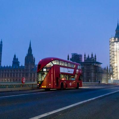 Kaupunkinäkymä Lontoossa.