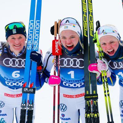 Maja Dahlqvist, Linn Svahn ja Emma Ribom