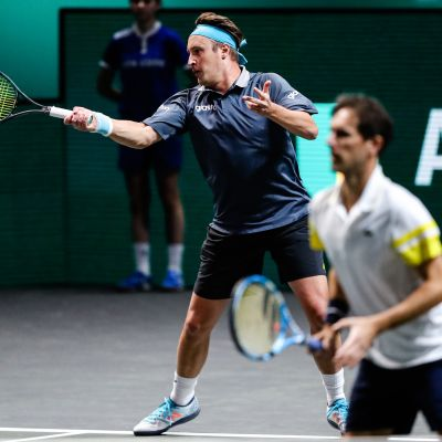 Henri Kontinen ja Edouard Roger-Vasselin Rotterdamin ATP500-turnauksessa 6. maaliskuuta.