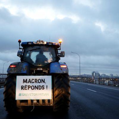 Traktorimarssi Ranskassa