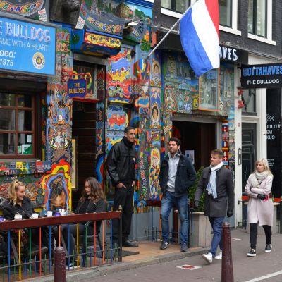 The Bulldog coffeeshop Amsterdamissa.