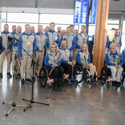 Paralympiajoukkueen paluujuhla