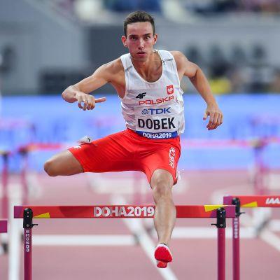 Patryk Dobek Dohan MM-kisoissa 2019.