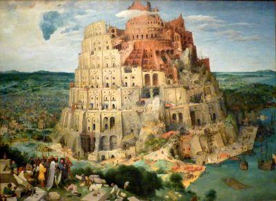 Pieter Brueghel den äldres målning föreställande Babels torn.