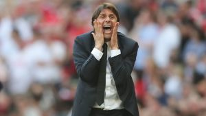 Antonio Conte har skrikit klart på Chelseas sidlinje.