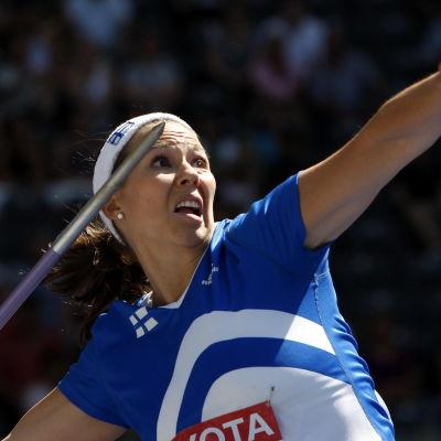 Mikaela Ingberg vid VM i Berlin 2009.