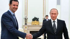 Bashar al-Assad träffade Vladimir Putin i Moskva.