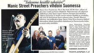 Fanitapaaminen Manic Street Preachersin kanssa