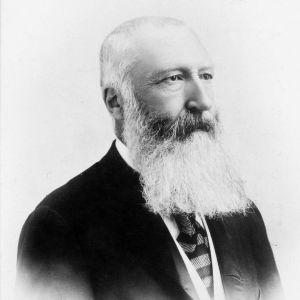 Ett gammalt fotografi av kung Leopold II